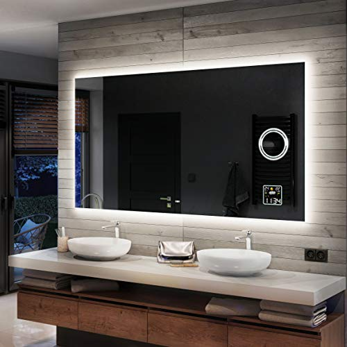 Artforma Badspiegel 140x70cm mit LED Beleuchtung -...