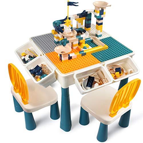 AMOSTING Höhenverstellbar Kindertisch mit Stühle...