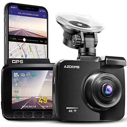 AZDOME 4K WiFi Dashcam mit GPS Autokamera mit...