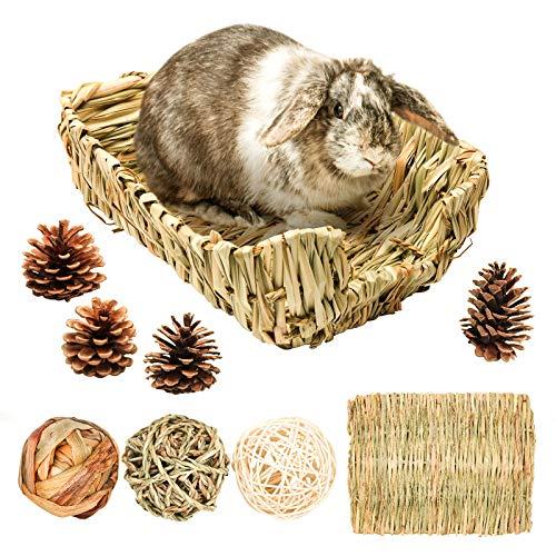 Geflochtenes Grasbett/Kaninchen Bett, Heu Matte...