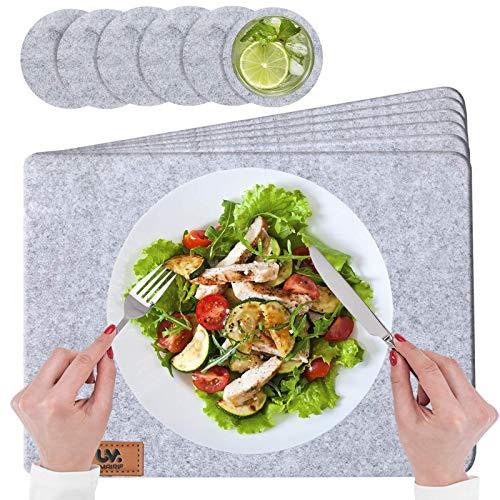 UMAIRIF® Eckige Platzset, Tischset Abwaschbar...