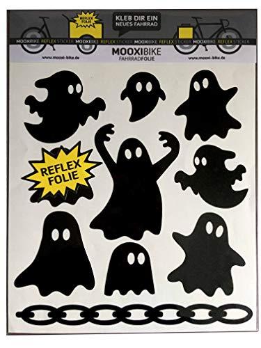 MOOXIBIKE I Sticker Set Ghost schwarz...