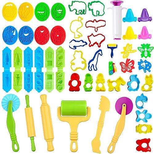 JWTOYZ Knetwerkzeug Kinder, 49Pcs Knete Werkzeug...