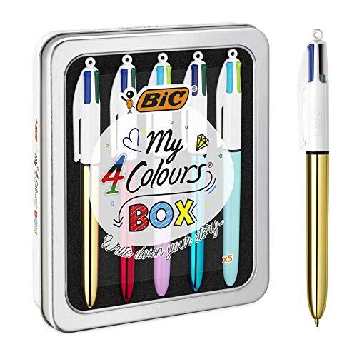 BIC Kugelschreiber 4 Colours, 5er Stifte Set in...