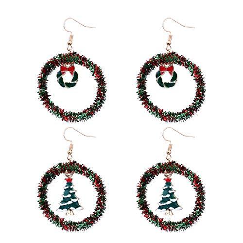 Weihnachtsmuster Baumeln Ohrringe Ohr Zubehör...