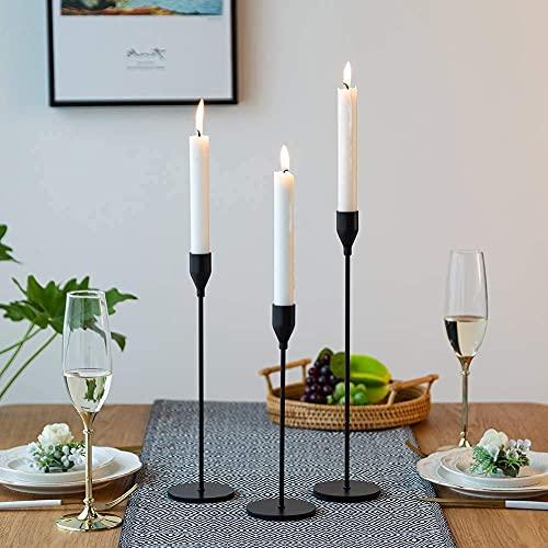 Wuudi Kerzenständer Set 3 Kerzenhalter aus Metall...