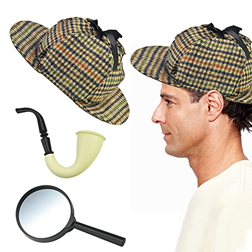 QUCUMER Hat Sherlock Holmes Costume 1* Hat, 1*...