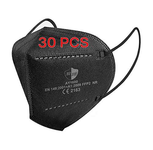 SOYES FFP2 Maske CE Zertifiziert Schwarz 5-lagige...