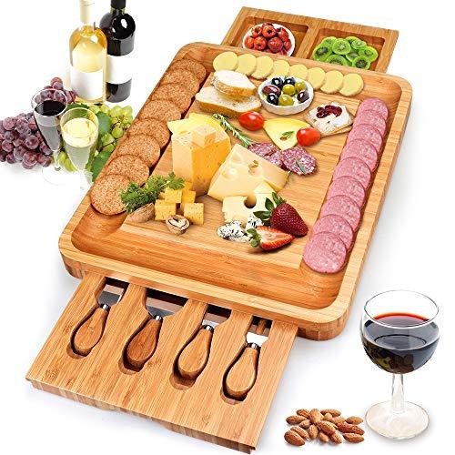 Yitriden Käsebrett mit Käsemesser und 2...