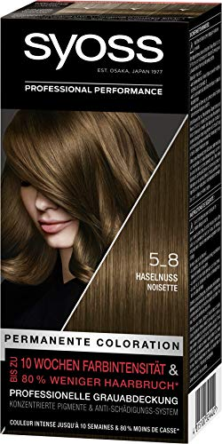SYOSS Coloration, Haarfarbe Stufe 3 5_8 Haselnuss,...