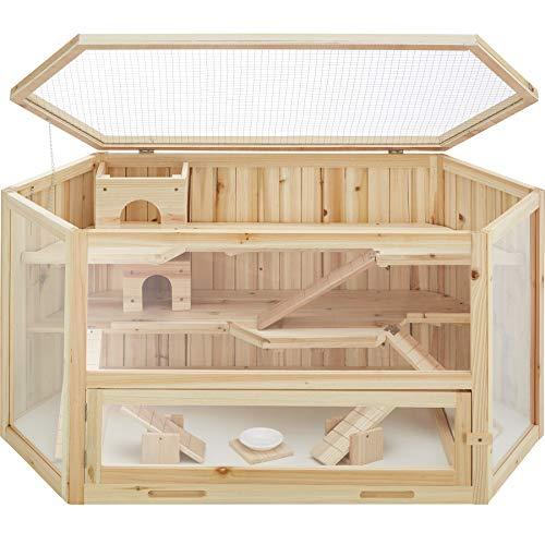 TecTake 403227 Hamsterkäfig aus Holz mit...