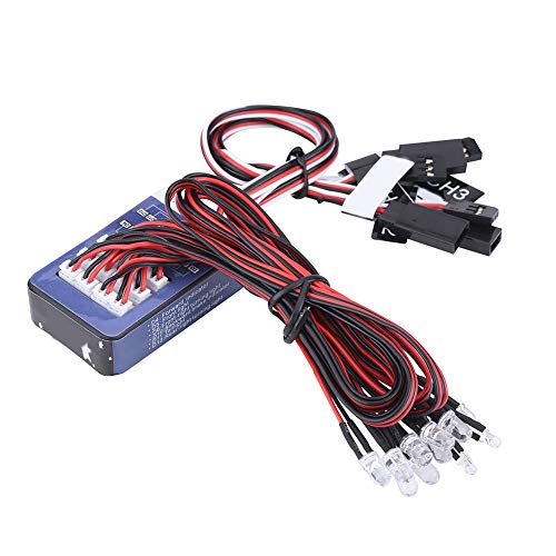 Dilwe 12-LED RC Auto Licht Kit, Beleuchtung System...