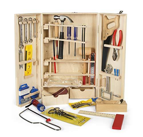 Leomark Deluxe Holz Werkzeug für Kinder - 50-TLG...