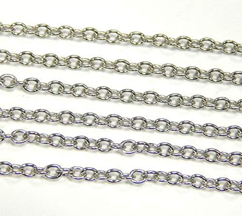 Perlin - 3 Meter Edelstahlkette Metallkette aus...