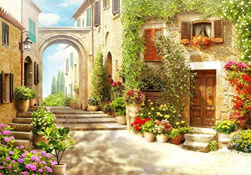 wandmotiv24 Fototapete Strasse italienische Stadt...