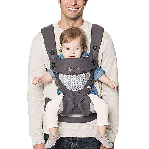 Ergobaby Babytrage 360 Cool Air Mesh Carbon Grey,...
