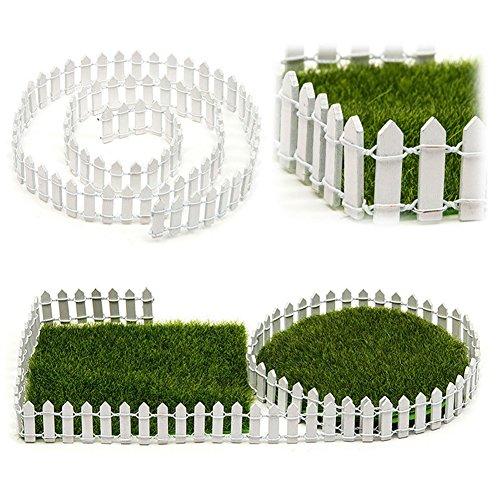 SUPEWOLD 1M Miniatur Garten Zaun, Miniatur Holz...