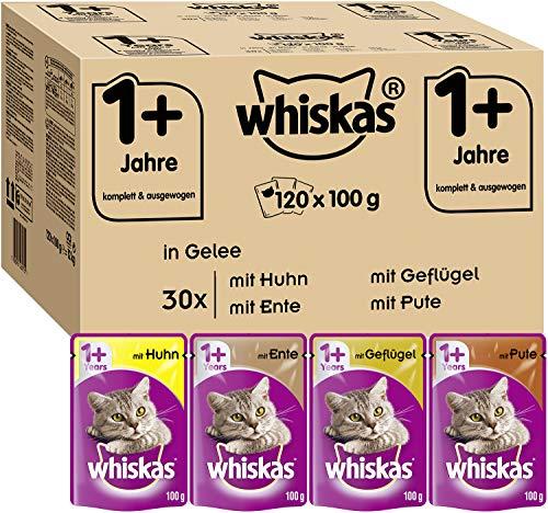 Whiskas 1 + Katzenfutter – Geflügel-Auswahl in...