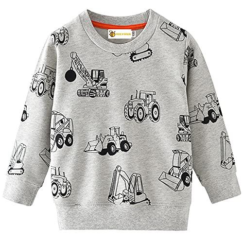 MOLYHUA Jungen Sweatshirt Kinder Dinosaurier...