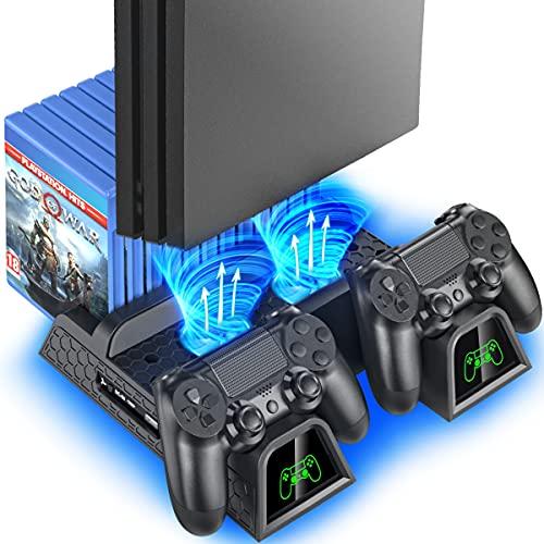 OIVO PS4 Vertical Stand Kühlung Lüfter für...