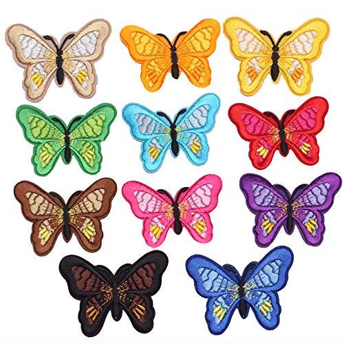 saizone 11 PCS Bunte Bestickte Schmetterlings...