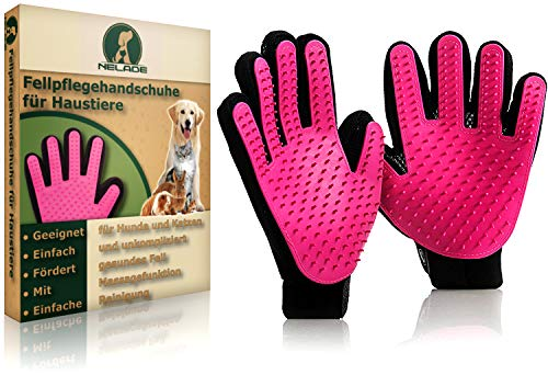 NELADE® Fellpflege-Handschuh als Fellbürste für...