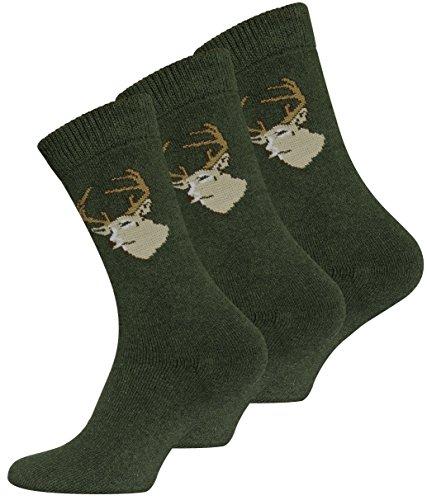 6 Paar JÄGER Socken Frottee, original VCA, Grün...