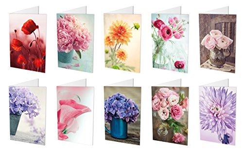 10 Blumenkarten (Klappkarten) im Set (10...