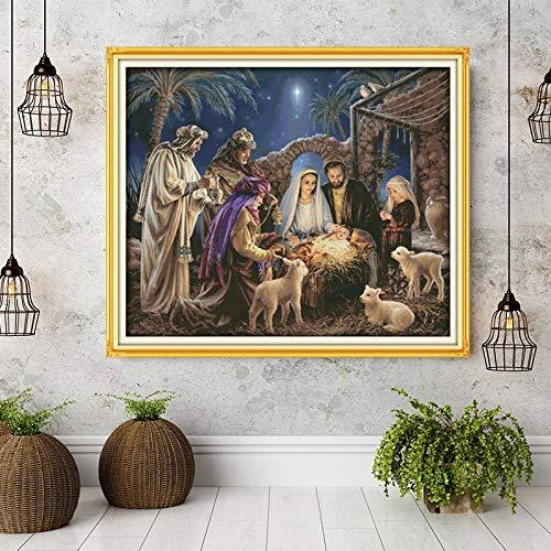 Die Geburt von Baby-Jesu-Mustern, Leinwand...