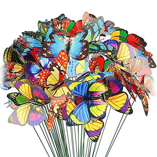 AnVerse 60 Schmetterlinge Deko Garten,...