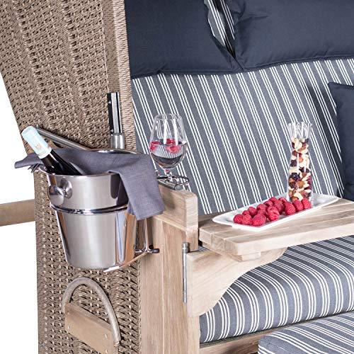 Mr. Deko Champagnerkühler für Strandkörbe -...