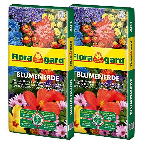Floragard Blumenerde 2x40 L • Universalerde •...