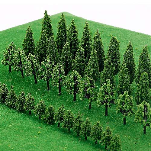 IWILCS 50Stück Modell Bäume Miniatur, Zug Bäume...