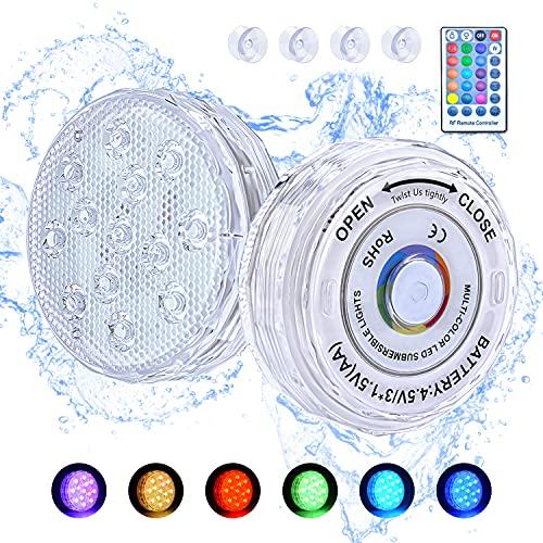 BlueFire Pool Unterwasser Licht, 2 Stück LED...
