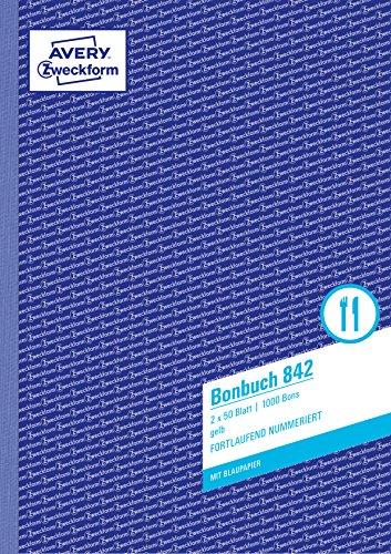 AVERY Zweckform 842 Bonbuch (A4, 1.000 fortlaufend...