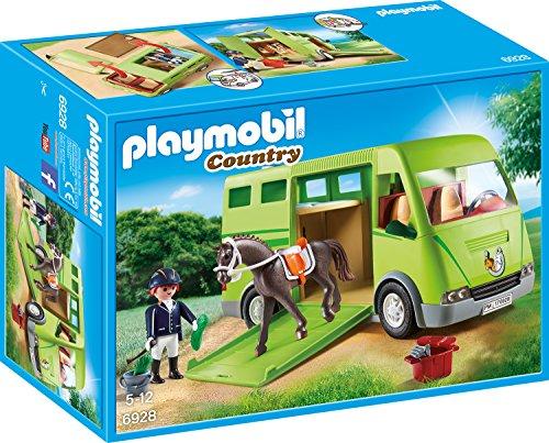 PLAYMOBIL Country Pferdetransporter mit Reiter und...