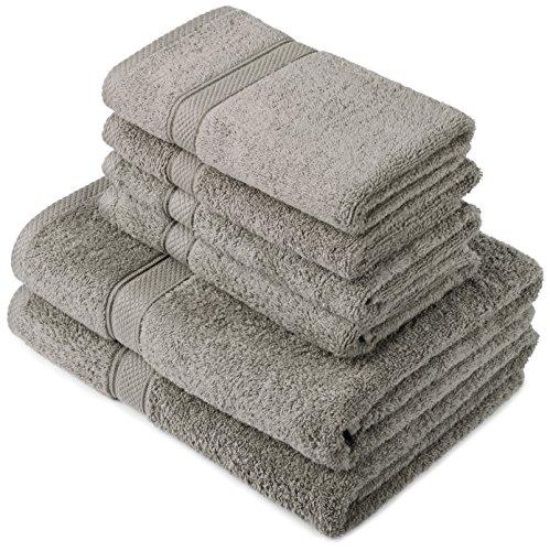 Pinzon by Amazon Handtuchset aus Baumwolle, grau,...