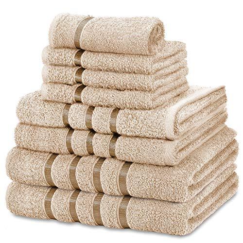 FAIRWAYUK Handtuch-Set für Badezimmer, 8-teilig,...