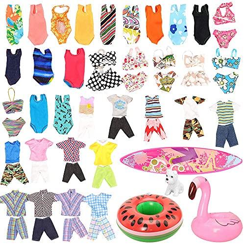 Miunana 12 Kleidung Zubehör für Puppen (3...