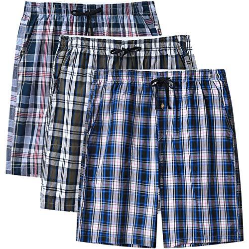 MoFiz Herren Schlafanzughosen Kurz Pyjamahose...