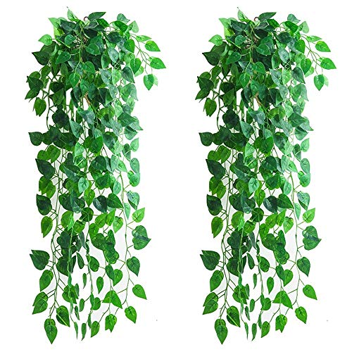 4 Stück künstliche hängende Pflanzen, 90 cm...