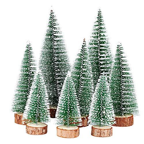 FLOFIA 8 STK Weihnachtsbaum Mini Künstlich 3...