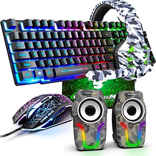 kabelgebundene Gaming-Tastatur Maus-Set,...