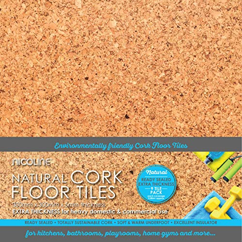 Bodenfliesen aus Kork, 5 mm