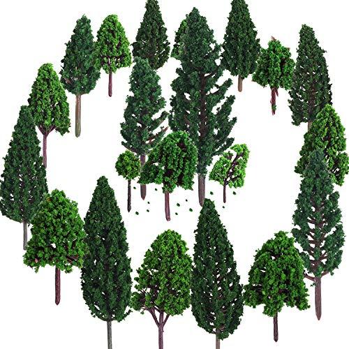 22 Stücke Modell Bäume 3 - 16 cm Mixed Modell...
