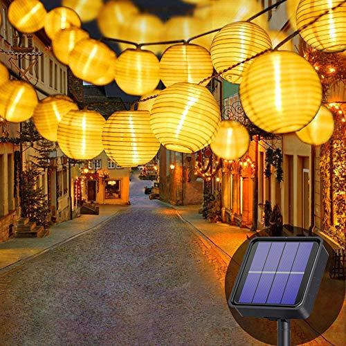 Lezonic Solar Lichterkette Lampion Außen, 8 Meter...