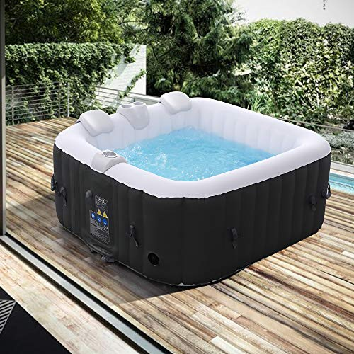 Arebos Whirlpool   aufblasbar   In- & Outdoor   4...