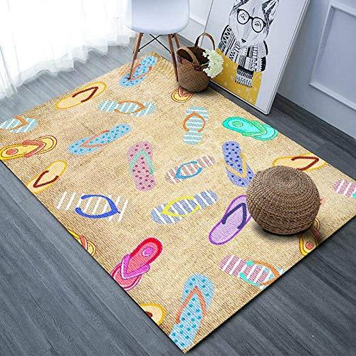 Teppich Wohnzimmer,Gelb,Anti-Großen Teppich Für...