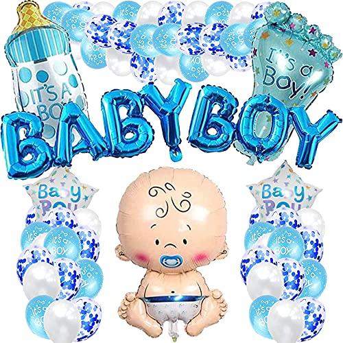 iWheat Babyparty Deko Junge, Blau Baby Shower...