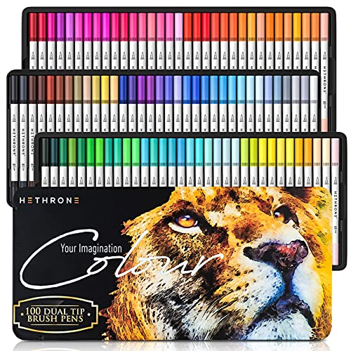 Hethrone Dual Brush Pen Set 100 Farben...